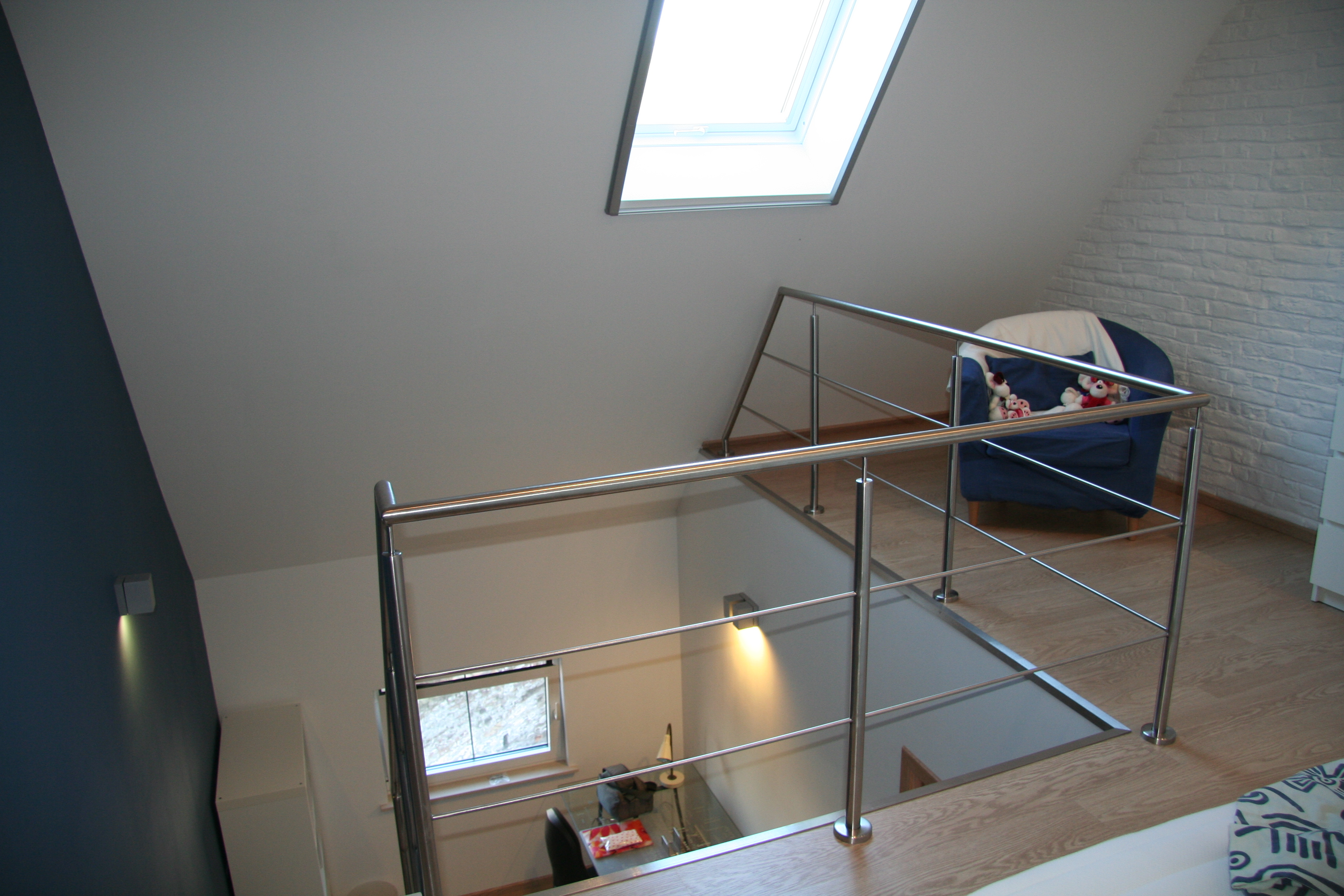 inox balustrade op overloop