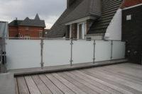 terrasafsluiting inox met glas