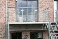 metalen terras met inox balustrade De Veirman Constructies Gent