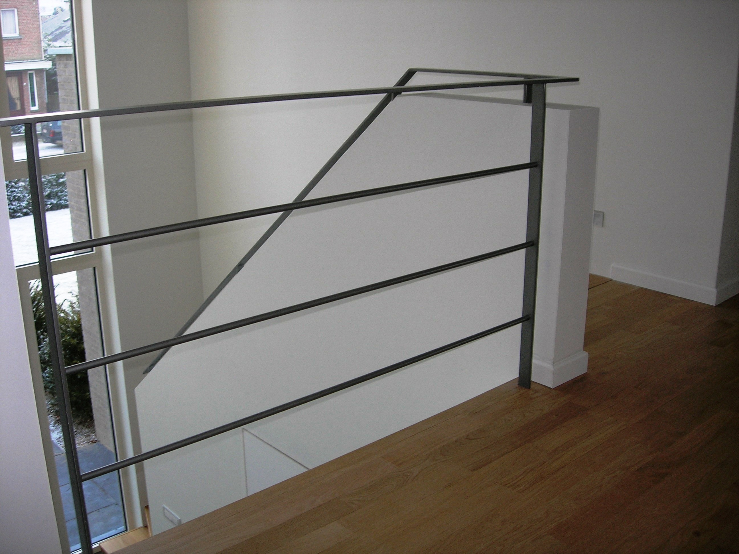 balustrade en leuning in staal
